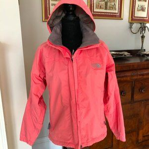 North Face Hivent Pink Light Weight Jacket Hood